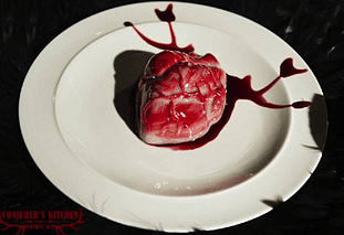 Bloody Heart on a Platete