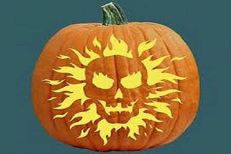 Halloween Skeleton Pumpkin