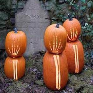 Pumpkin Skeleton Hands