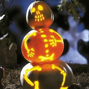 Jack-O-Lantern three Skeleton