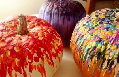 Crayoned Pumpkins