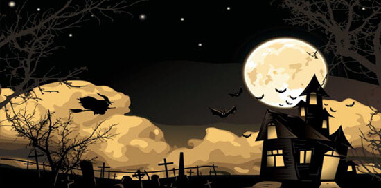 Witch, House and Moon
