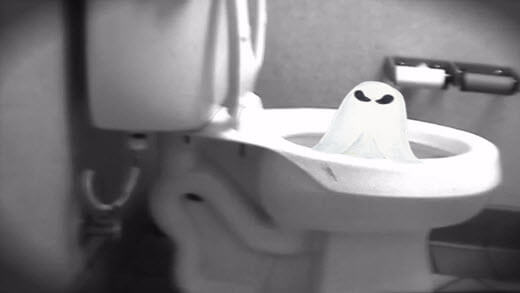 Ghost in a Toliet